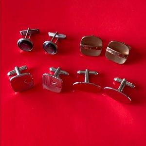 Four Assorted Men's Cuff Links